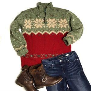 Vintage Lauren Ralph Lauren Hand Knit Ski Sweater